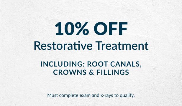Restorative treatment special offer