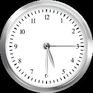 Clock showing 5:30